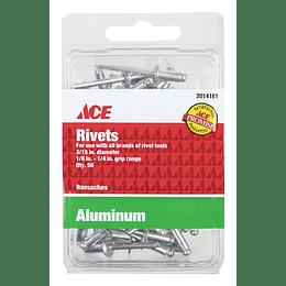 Remaches En Aluminio 3/16 Rango 1/8-1/4 X 50 Unid