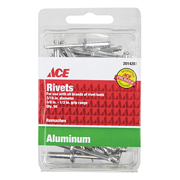 Remaches En Aluminio 3/16 Rango 3/ x 1/2 X 50 Unid
