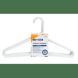 Gancho Ropa Plástico Blanco X 8 Unid