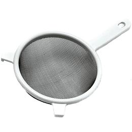 Colador De Malla De Acero Inoxidable Blanco
