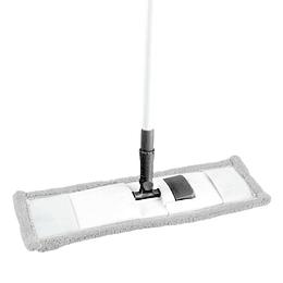 Mopa Abrillantadora De Microfibra Blanca Con Mango Extensible De 120Cm