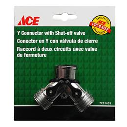 Conector En Y Con Válvula De Cierre