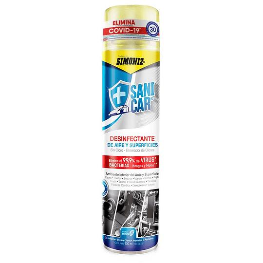 Desinfectante de Aire y Superficies Menta 400 ml Simoniz Sani Car