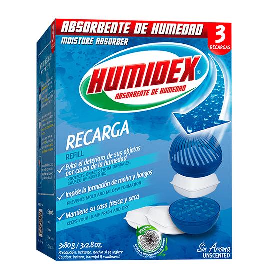 Humidex Recarga 3 Recargas x 80 g