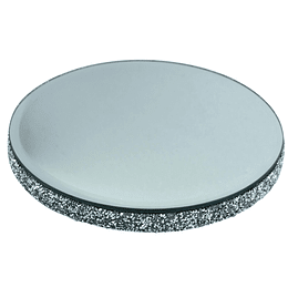 Base Decorativa Espejo Con Bordes Brillantes Grande
