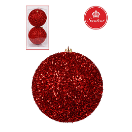 Bola Decorativa 2 pz Roja 12 mm