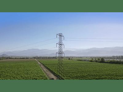high voltage aerial video over vineyards