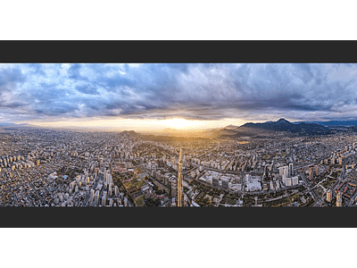 Foto Santiago atardecer Panoramica 0140