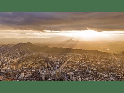 Foto Santiago atardecer Panoramica 0136