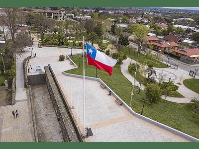 Foto Chillan parque Ohiggins2 bandera de Chile