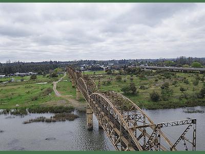 Foto Chillan rio ñuble puente tren1