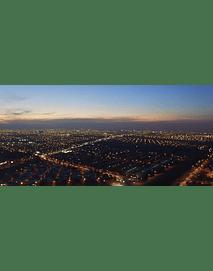 video Aerea santiago noche #002