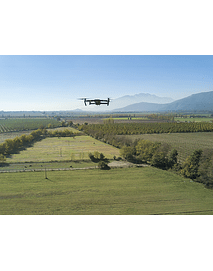 Photo Drone flying over fields 01