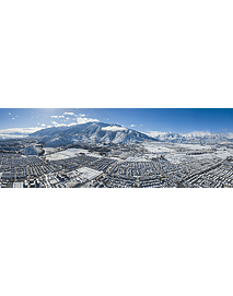 Panorama south east snowy Santiago