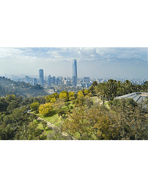 Foto Panoramica stgo desde San Cristobal (Gran Torre Santiago)
