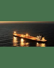 Video Buque en el mar de noche #01