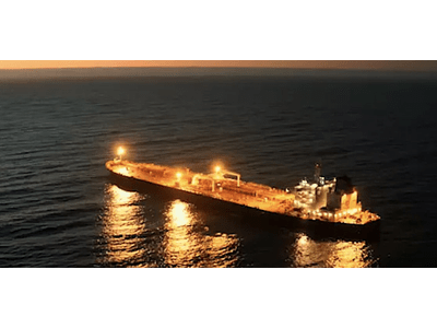 Video Ship on the sea at night # 01