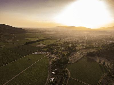 Foto aerea naturaleza Chile central atardecer DJI_0022