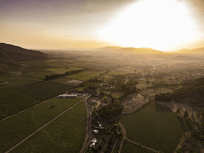 Aerial photo nature Central Chile sunset DJI_0022