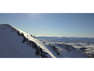 Aerial Video Aysen Winter # 07 (mountains in austral zone)