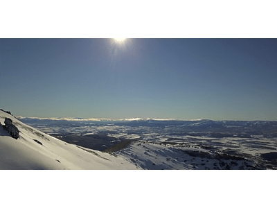 Aerial Video Aysen Winter # 08 (Patagonia nevada)