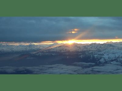 Aerial Video Sunrise in Cordillera de Los Andes, Chile. # 16
