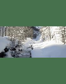 Video Aereo Aysén Invierno #19 (riachuelo en el hielo)