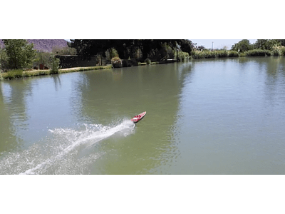 Aerial video clip boat rc 02