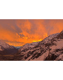 Photo mountain range of Los Andes Cajon del Maipo 0329