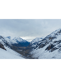 Photo mountain range of Los Andes Cajon del Maipo 0320