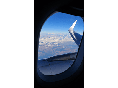 Photo by the window of the plane 002
