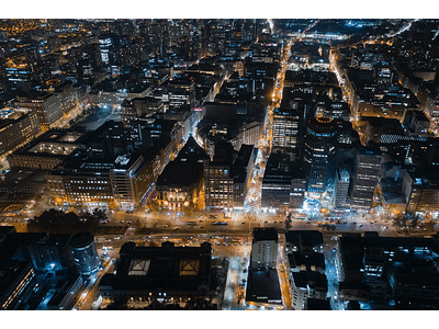 Aerial photo Santiago downtown night DJI_0071