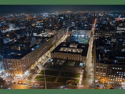 Aerial photo Santiago downtown night DJI_0063