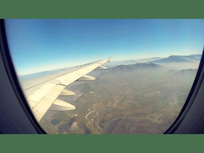 Video Viaje avión stgo al norte A01 TIMELAPSE