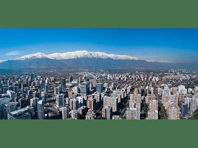 photo santiago Chile panoramic aerial