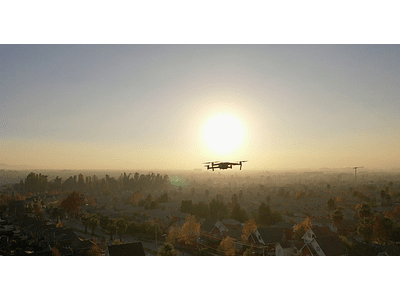 Video drone in the neighborhood 02