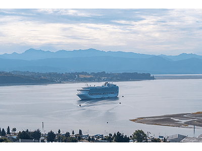 Boat arriving at Puerto Montt # 01