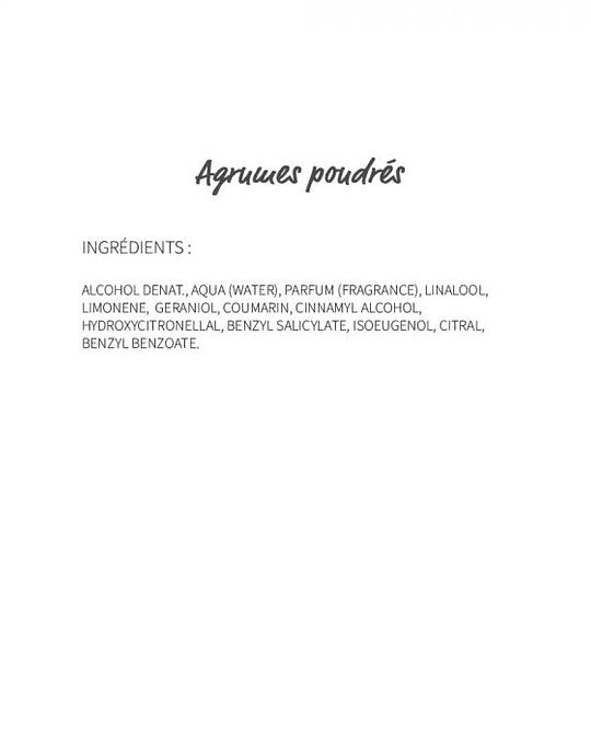 Agrumes poudrés (309) - eau de Parfum 30ml