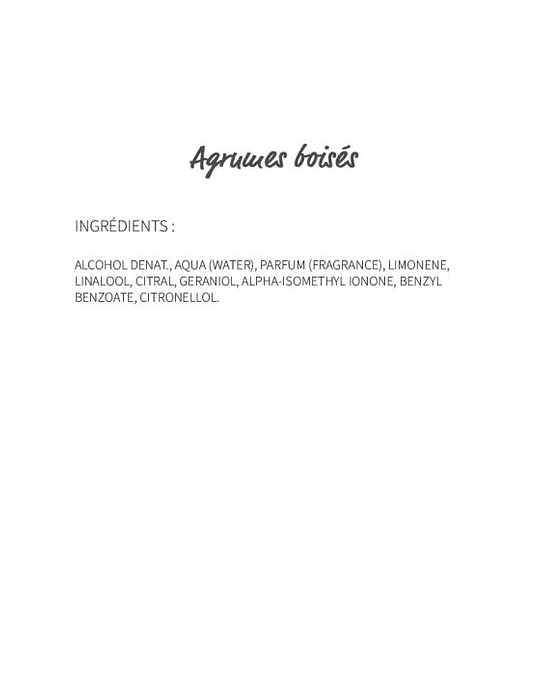 Agrumes boisés (310) - eau de parfum 30ml
