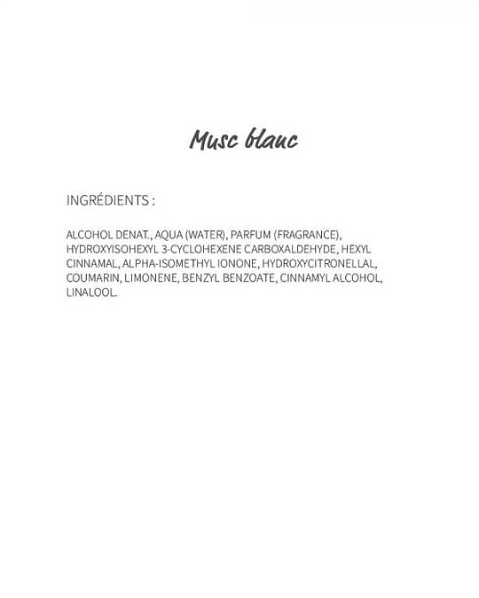 Musc blanc (500) - eau de parfum roll-on 10ml