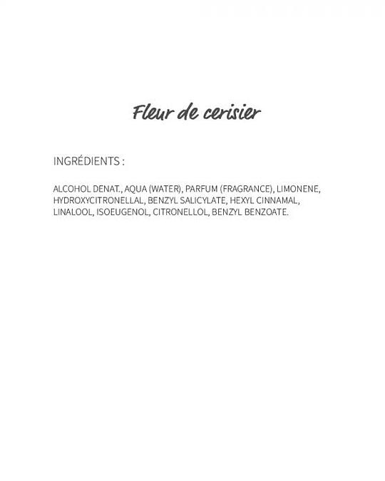 Fleur de cerisier (216) - eau de parfum 30ml