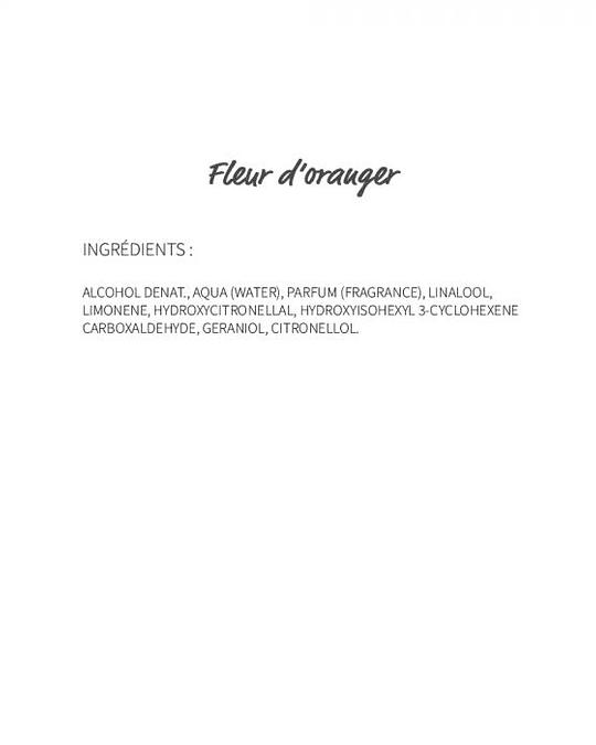 Fleur de oranger (200) - eau de parfum 30ml