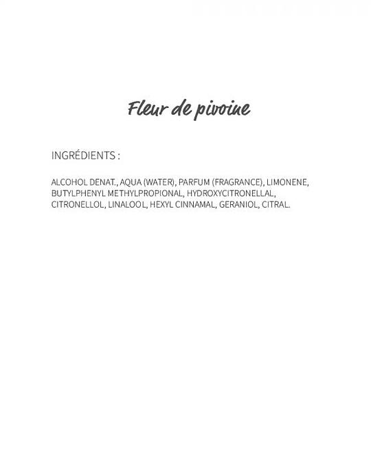 Fleur de pivoine (266) - eau de parfum 30ml
