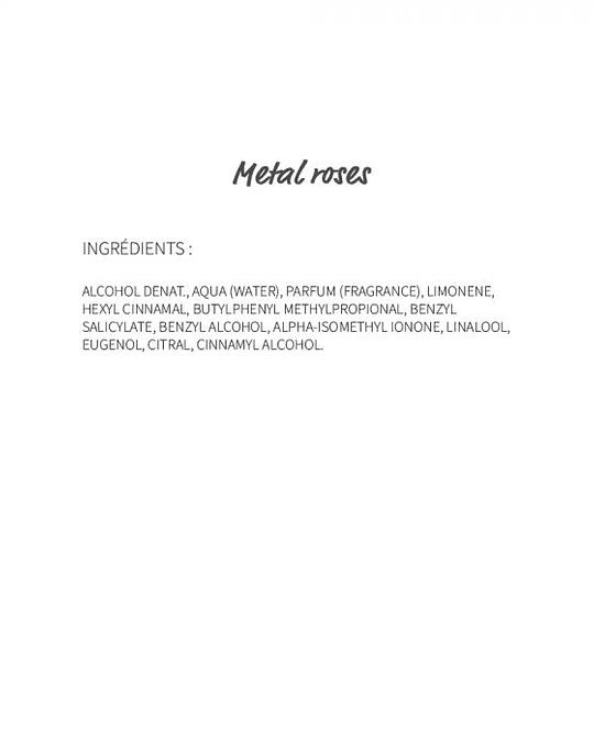 Metal roses (25)  - eau de parfum 30ml