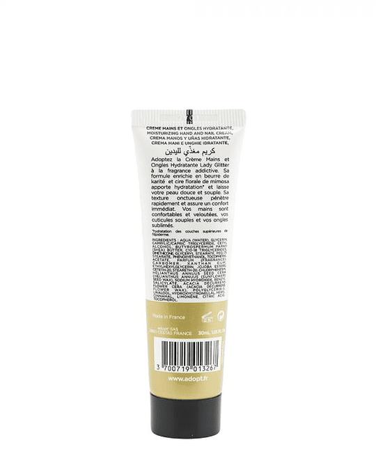 Lady glitter (807) -  crema hidratante para manos y uñas 30ml
