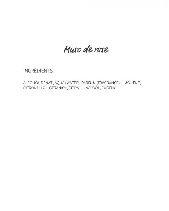 Musc de rose (688) - eau de parfum 30ml