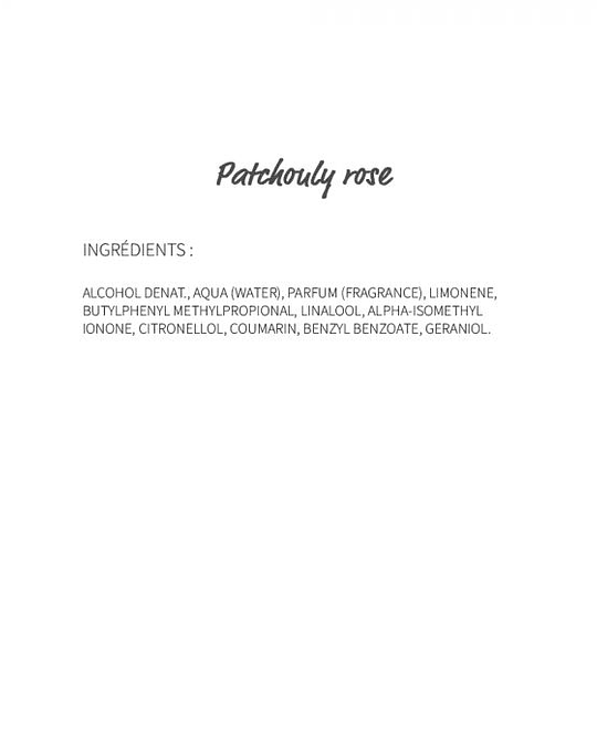 Patchouly rose (20) - eau de parfum 30ml