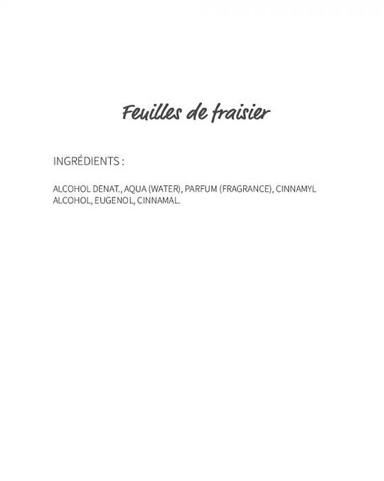 Feuilles de Fraisier (116) - eau de parfum 30ml
