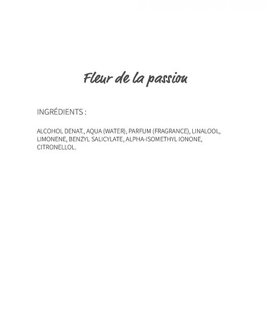 Fleur de la Passion (700) - eau de parfum 30ml
