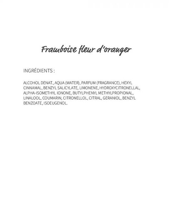 Framboise fleur d'oranger (191) - eau de parfum 30ml